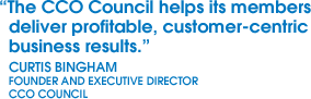 A Quote about the CCO Council from Curtis Bingham