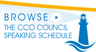Browse the CCO Council Speaking Schedule